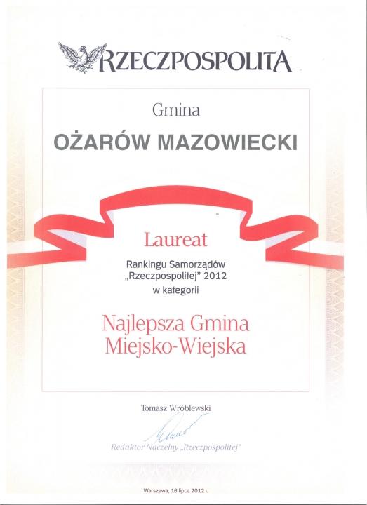 Laureat Rzeczpospolitej 2012