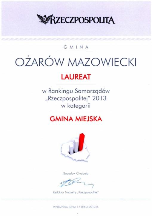 Laureat Rzeczpospolitej 2013