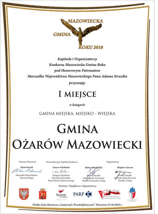 Mazowiecka Gmina Roku 2010
