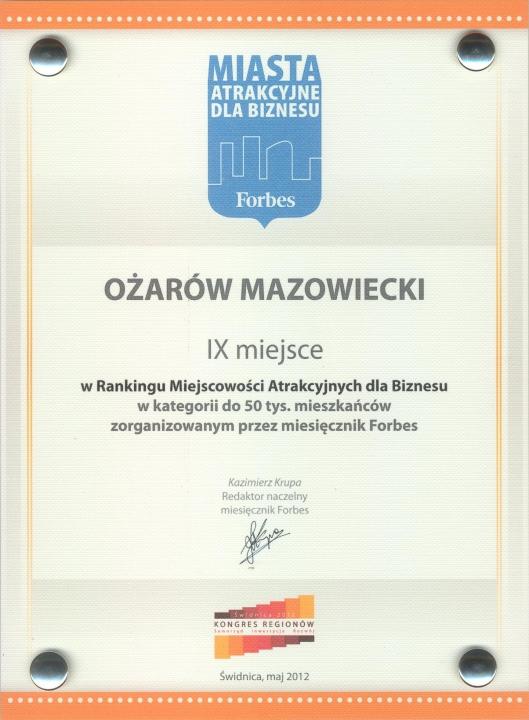 Nagroda miesięcznika Forbes (2012)