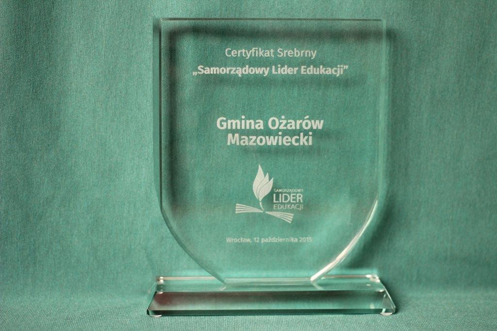 statuetka_certyfikat srebrny SLE
